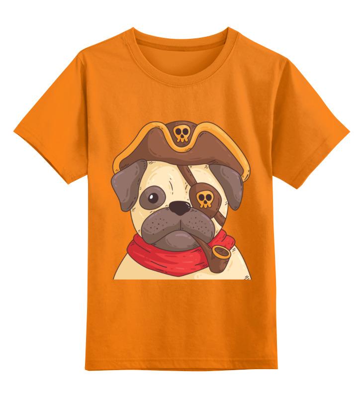 Детская футболка классическая унисекс Printio Мопс-пират цена и фото