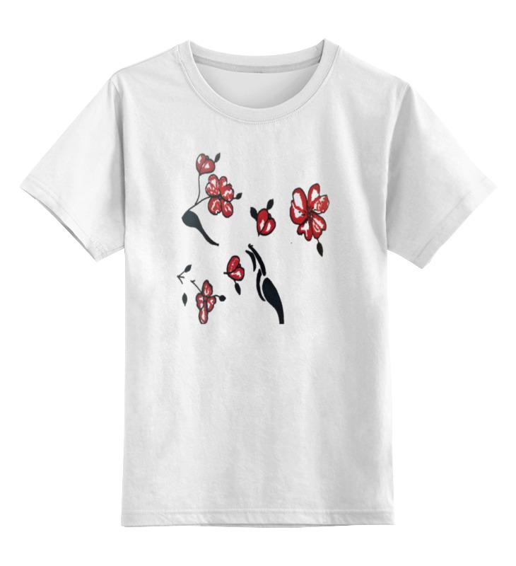 Детская футболка классическая унисекс Printio Красные маки бомбер printio красные маки