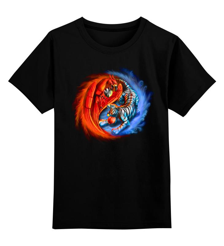 цена на Детская футболка классическая унисекс Printio Yin yang