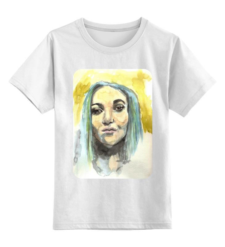 Детская футболка классическая унисекс Printio Девушка акварелью детская футболка классическая унисекс printio сексуальная девушка в молоке