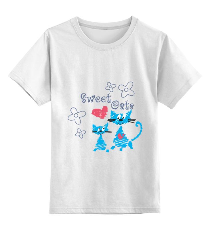 Детская футболка классическая унисекс Printio Sweet cats