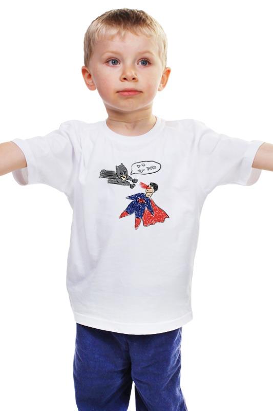 Детская футболка классическая унисекс Printio Бэтмен и супермен футболка с короткими рукавами свитер бэтмен супермен детского мультфильма мальчик