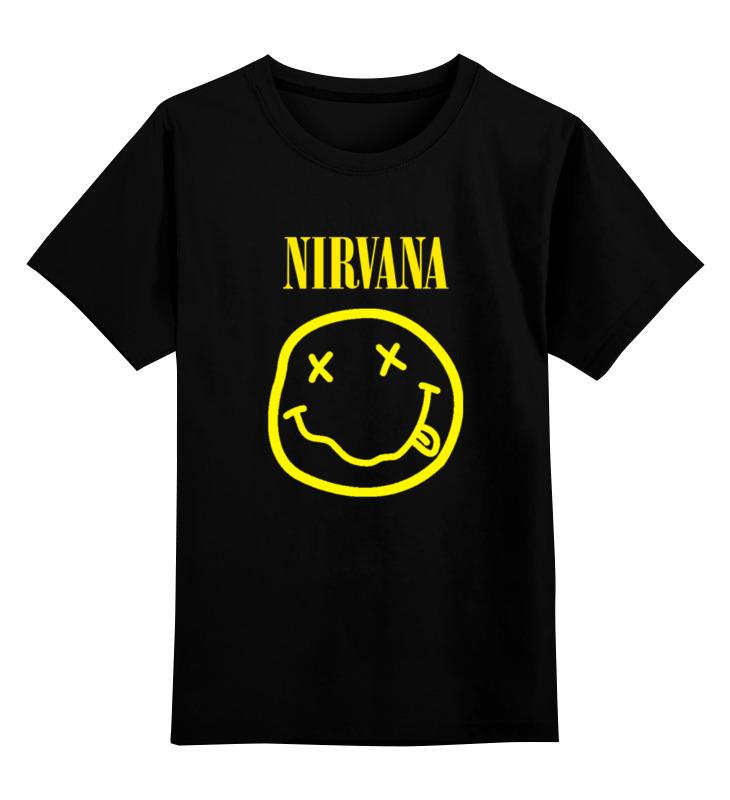 Детская футболка классическая унисекс Printio Nirvana
