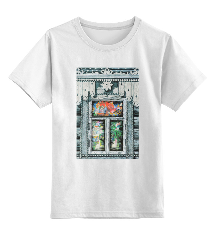 Детская футболка классическая унисекс Printio Окна русского авангарда - лентулов окна