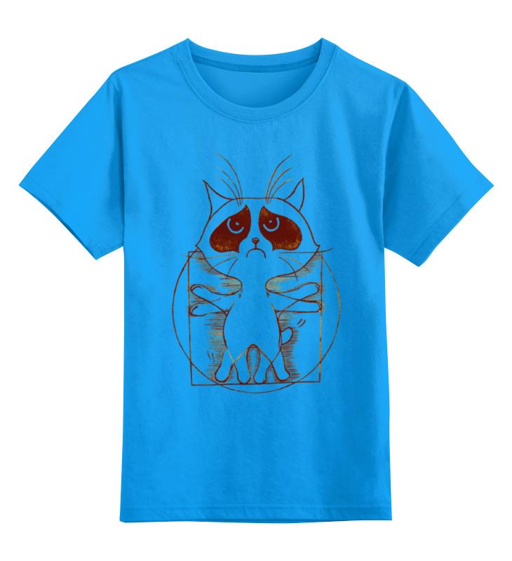 цена на Детская футболка классическая унисекс Printio Витрувианский кот