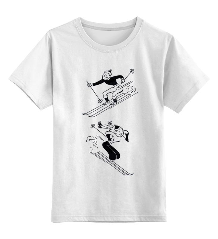 Детская футболка классическая унисекс Printio Keep calm and ski on men and women couples clothing outdoor snowboard ski jacket and pants skiing jacket waterproof snow coat sportswear ski suit