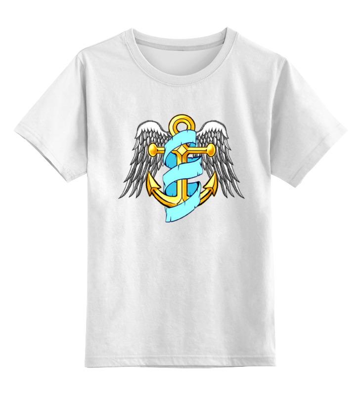 Детская футболка классическая унисекс Printio Морская тема блузка детская barkito морская принцесса голубая