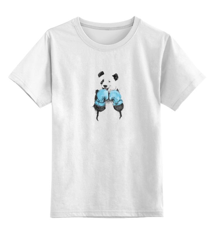 Детская футболка классическая унисекс Printio Панда боксер детская футболка классическая унисекс printio панда боксер