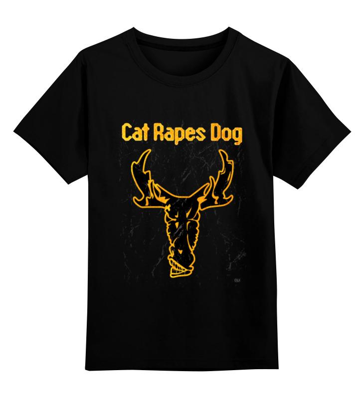 Детская футболка классическая унисекс Printio Cat rapes dog футболка классическая printio gta 5 dog