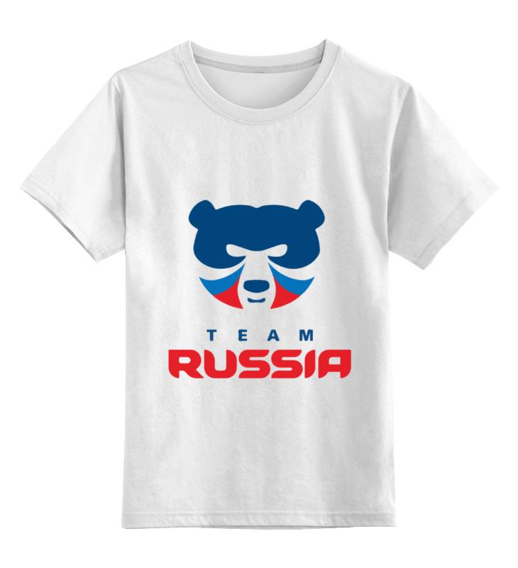 Детская футболка классическая унисекс Printio Russia team
