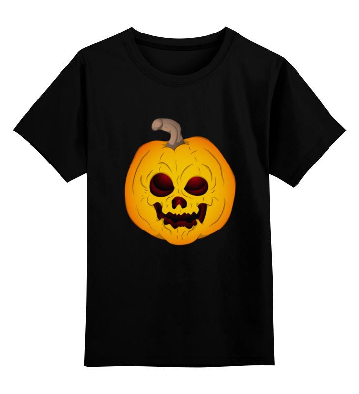 Детская футболка классическая унисекс Printio Хэллоуин тыква