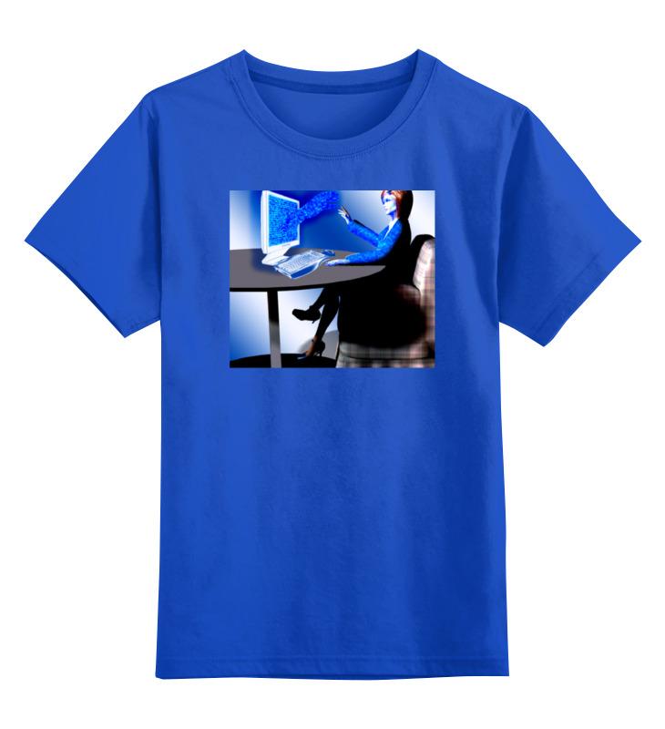 Детская футболка классическая унисекс Printio Будущие технологии тектильного компьютера