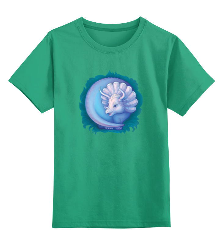 Детская футболка классическая унисекс Printio Динозаврик