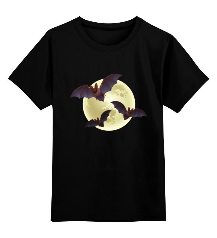 Детская футболка классическая унисекс Printio Хэллоуин луна