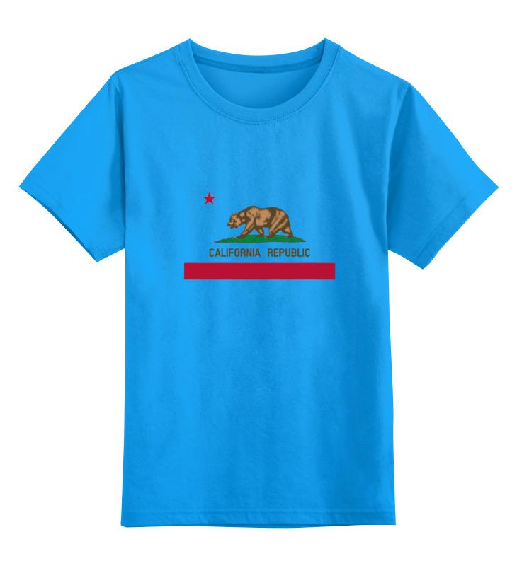 Детская футболка классическая унисекс Printio Калифорния флаг