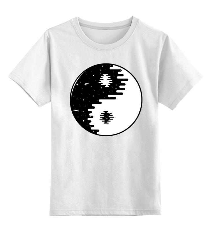 Детская футболка классическая унисекс Printio Инь янь цена