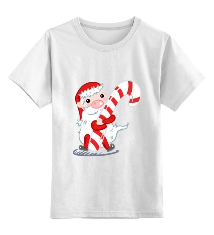 Детская футболка классическая унисекс Printio Дед мороз с леденцом детская футболка классическая унисекс printio дед мороз