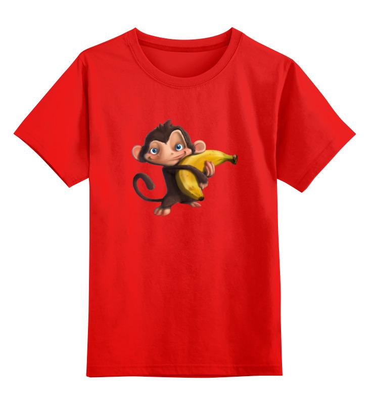 Детская футболка классическая унисекс Printio Обезьянка с бананом цена и фото