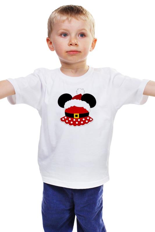 Детская футболка классическая унисекс Printio Santa minnie (санта минни) свитшот print bar santa minnie санта минни парные