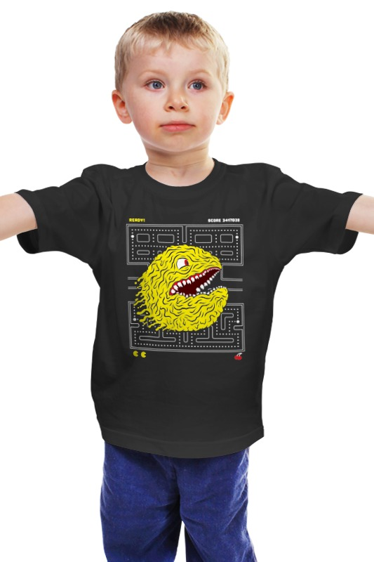 Детская футболка классическая унисекс Printio Pac-man