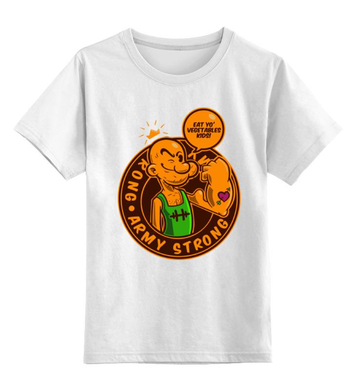 Детская футболка классическая унисекс Printio Моряк попай футболка стрэйч printio моряк попай