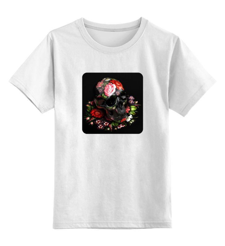 Детская футболка классическая унисекс Printio Череп (жостово) детская футболка классическая унисекс printio череп мезенская роспись