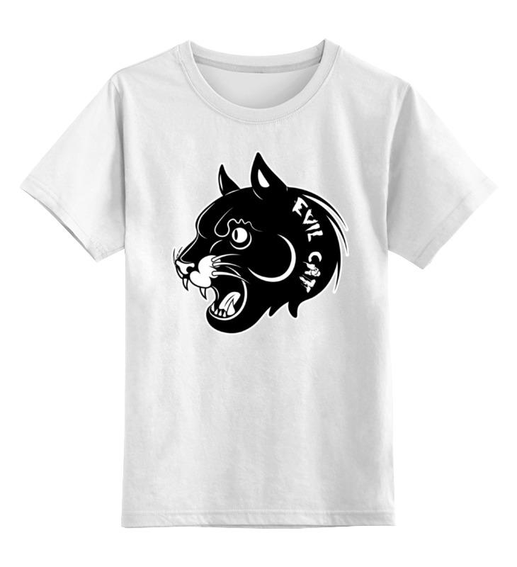 Детская футболка классическая унисекс Printio Злой кот детская футболка классическая унисекс printio абстрактный кот