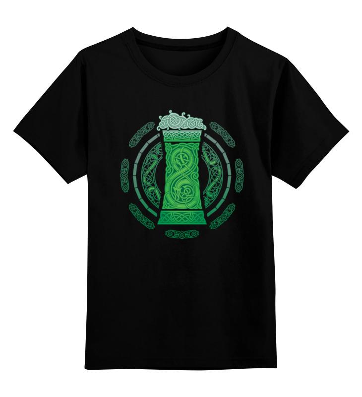 все цены на Детская футболка классическая унисекс Printio Зелёный эль