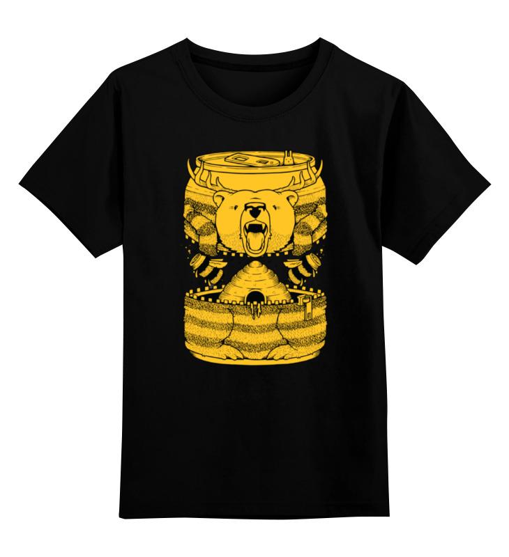 Детская футболка классическая унисекс Printio Bear beer /медведь и мед майка классическая printio я медведь i am bear