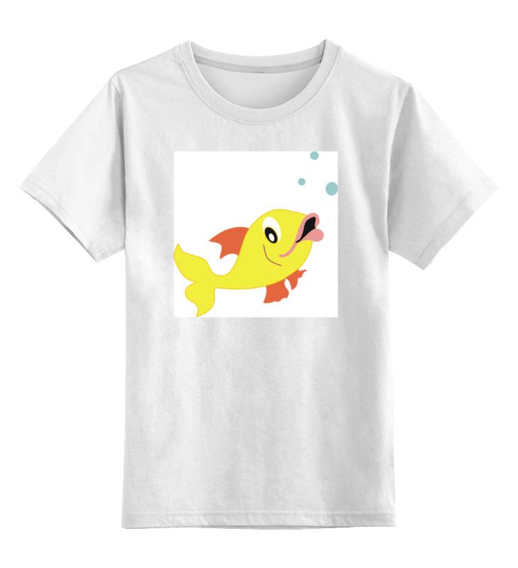 Детская футболка классическая унисекс Printio Рыбка стоимость