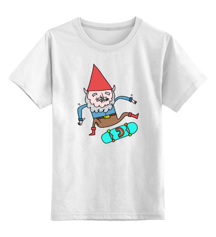 Детская футболка классическая унисекс Printio Гном на скейте детская футболка классическая унисекс printio дракула на скейте