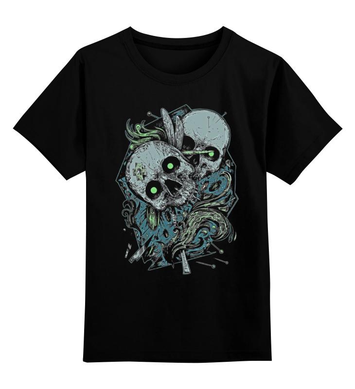 Детская футболка классическая унисекс Printio Skull art