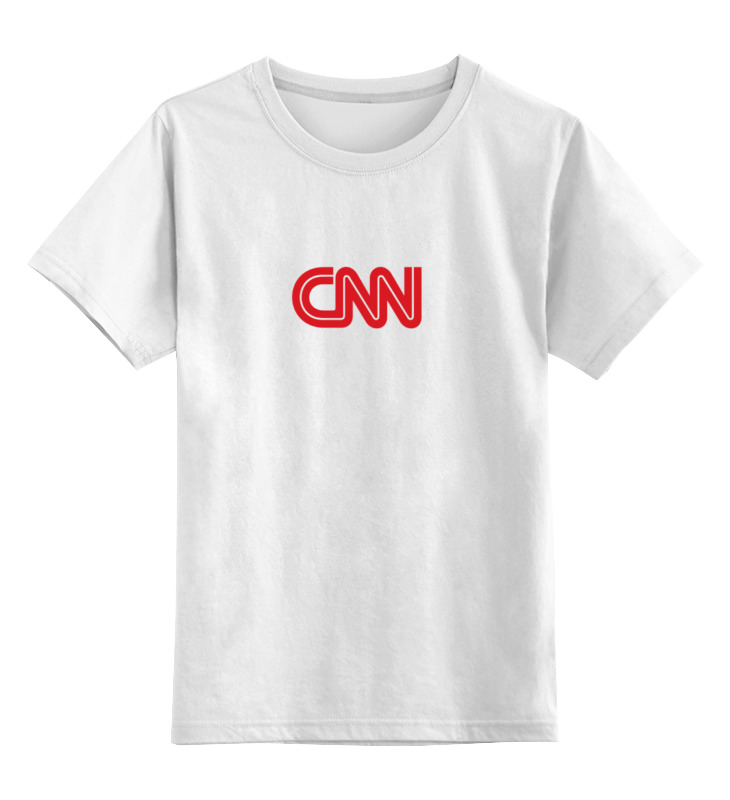 Детская футболка классическая унисекс Printio Cnn (cable news network) футболка wearcraft premium slim fit printio cnn cable news network