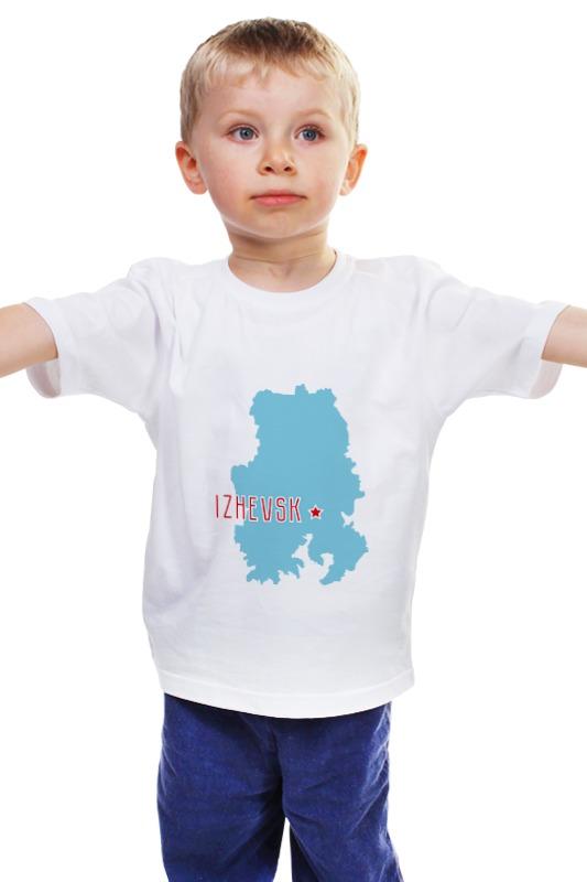 Детская футболка классическая унисекс Printio Республика удмуртия. ижевск земля славянское шоссе ижевск