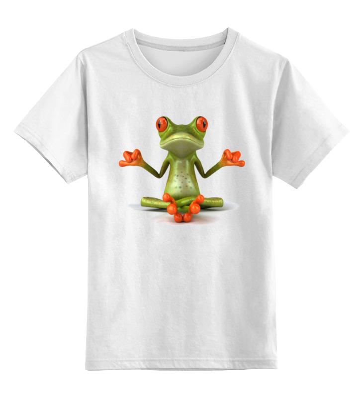 Детская футболка классическая унисекс Printio Йога, философия философия дружбы