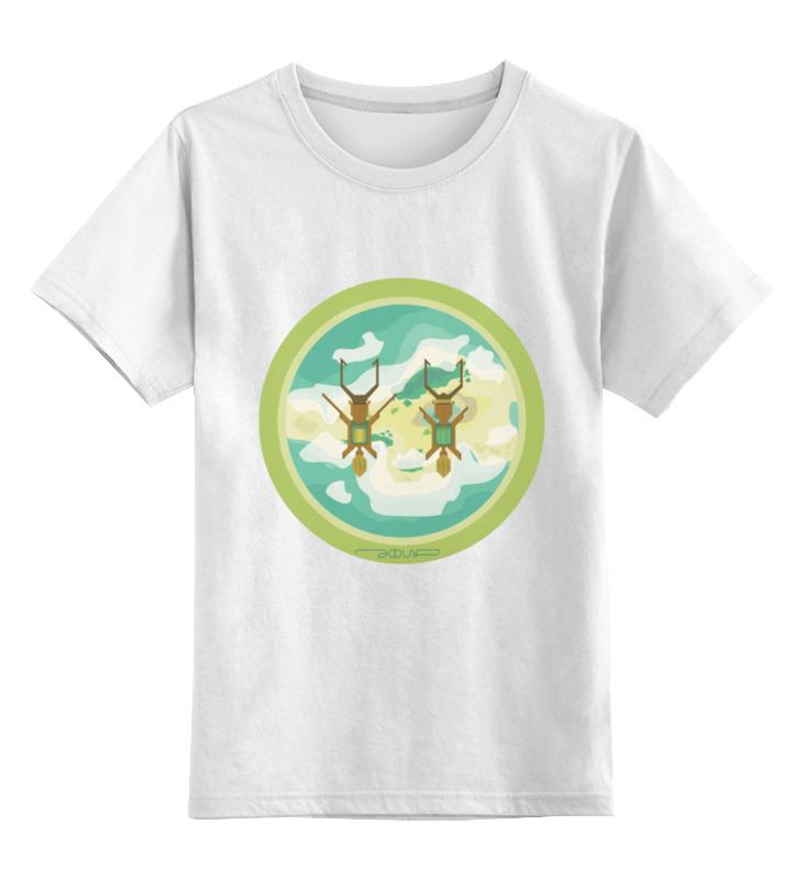 Детская футболка классическая унисекс Printio Полет над островом полет полет стиль 2400 123 1 047