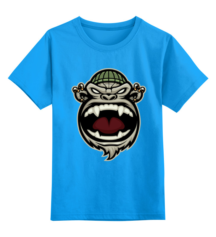 Детская футболка классическая унисекс Printio Обезьяна (monkey)