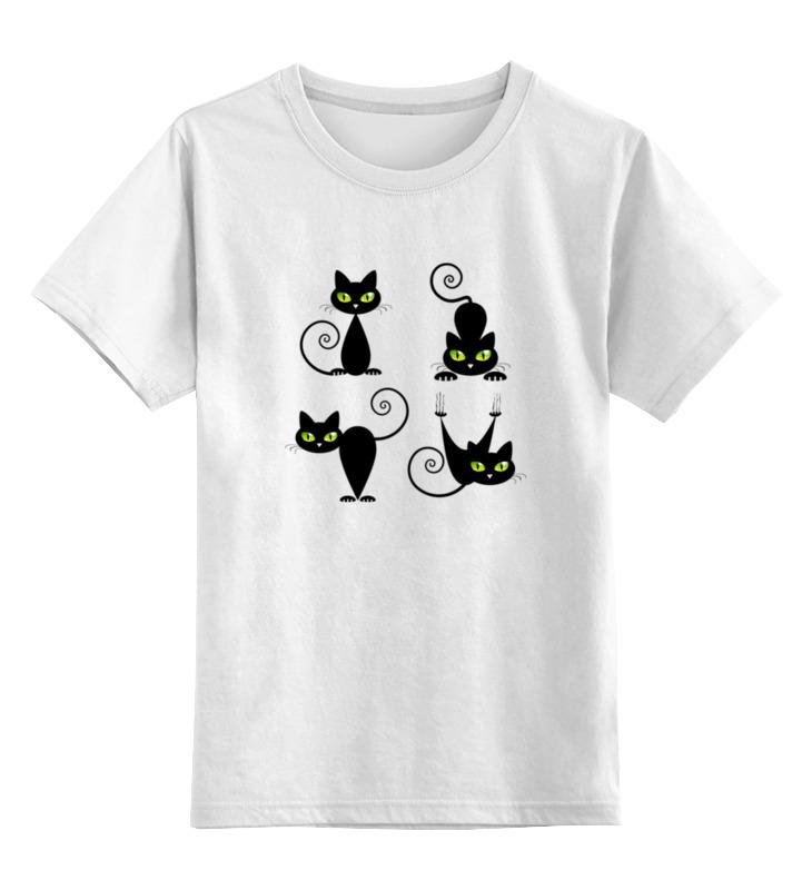 Детская футболка классическая унисекс Printio Кошки 7
