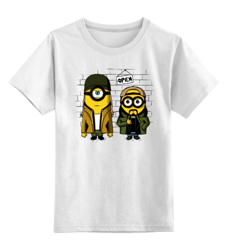 Детская футболка классическая унисекс Printio Миньоны тусовщики детская футболка классическая унисекс printio миньоны