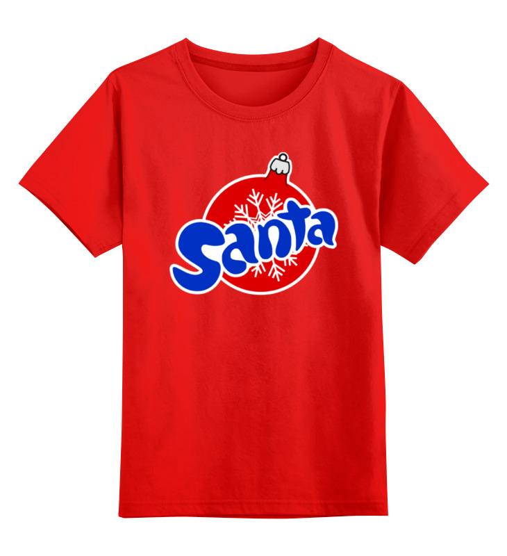 Детская футболка классическая унисекс Printio Santa smoby детская горка king size цвет красный