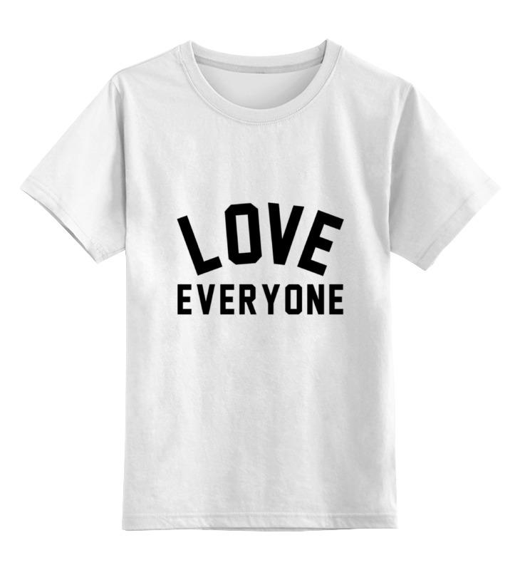 Детская футболка классическая унисекс Printio Любить всех