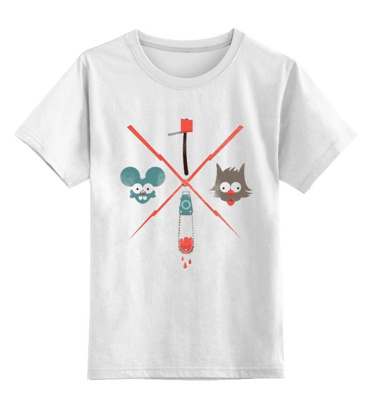 Детская футболка классическая унисекс Printio Щекотка и царапка. simpsons кружка printio щекотка и царапка