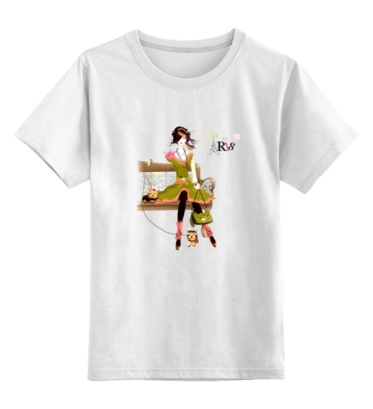 Детская футболка классическая унисекс Printio Paris