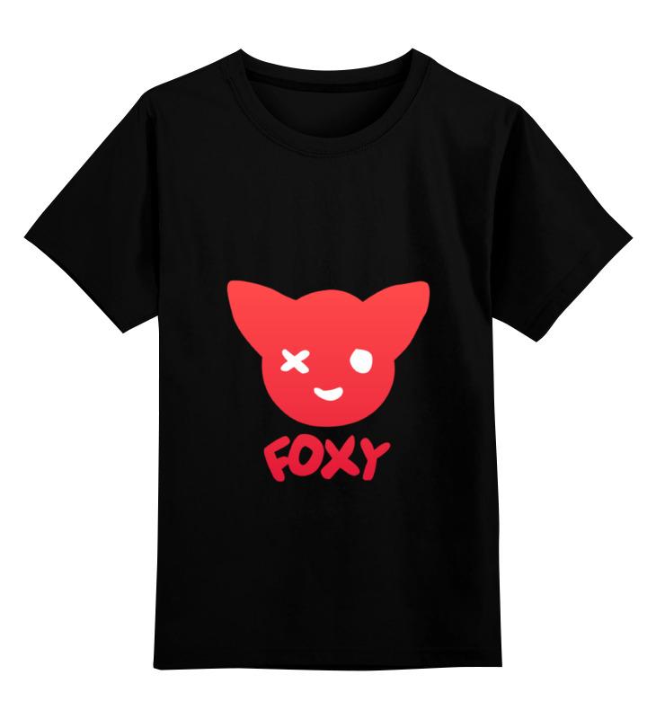 Детская футболка классическая унисекс Printio Фокси foxy