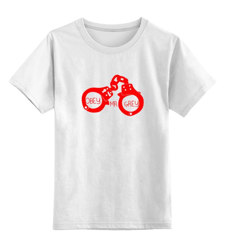 Детская футболка классическая унисекс Printio Повинуйся мистер грей (obey mr grey) джеймс э л грей кристиан грей о пятидесяти оттенках