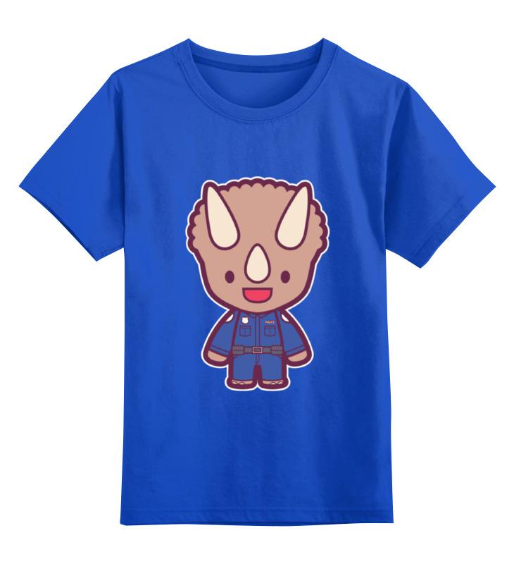 Детская футболка классическая унисекс Printio Dino cop (kung fury) сумка printio kung fu panda