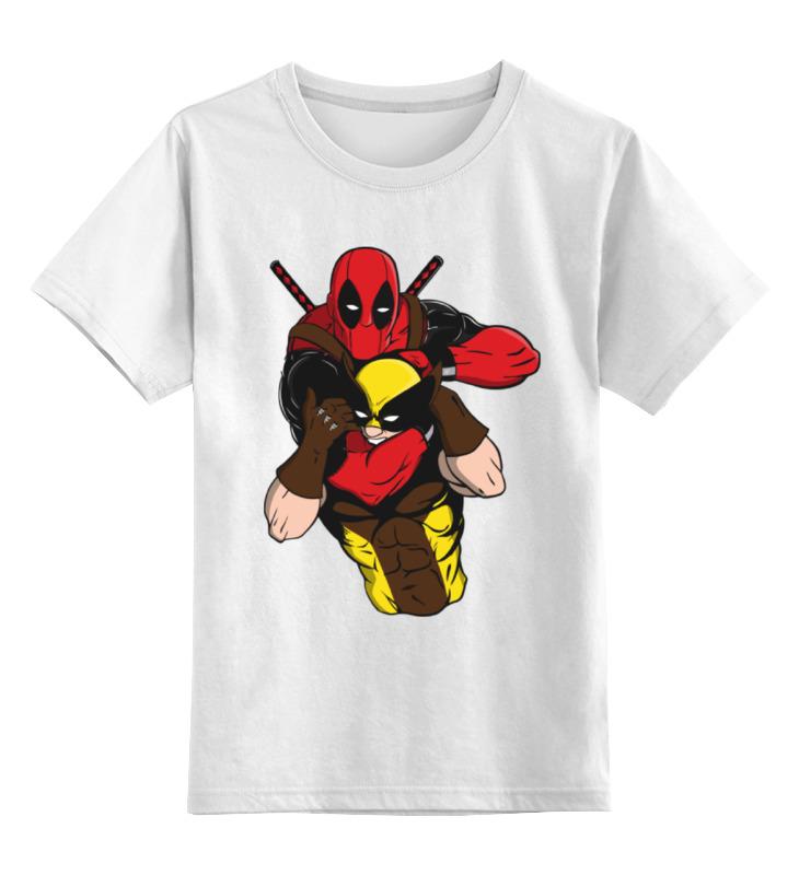 Детская футболка классическая унисекс Printio Дэдпул и росомаха детская футболка классическая унисекс printio винни дэдпул