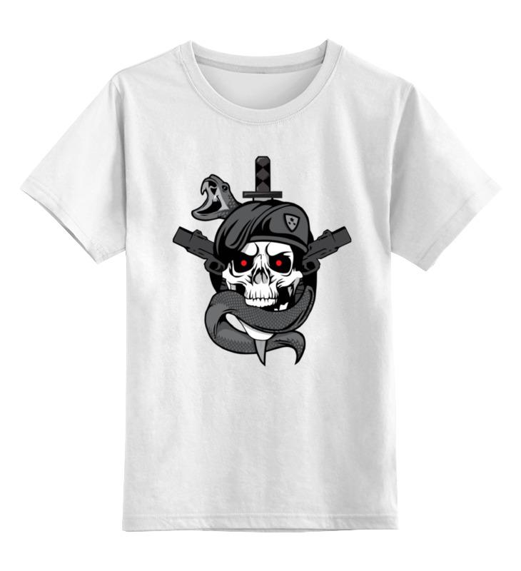 Детская футболка классическая унисекс Printio Череп (call of duty) футболка для беременных printio череп call of duty