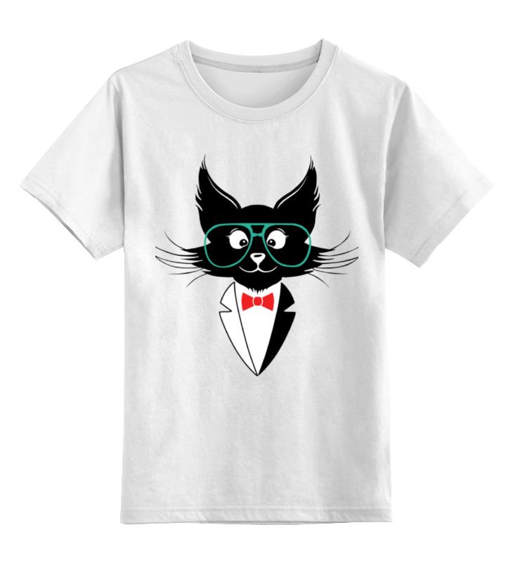 Детская футболка классическая унисекс Printio Кот стиляга