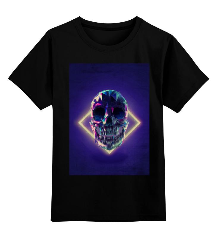 Детская футболка классическая унисекс Printio Low poly skull блокнот printio low poly skull